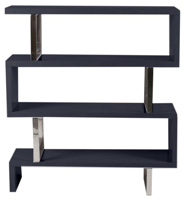 Santoni Bookshelf, Charcoal/Silver
