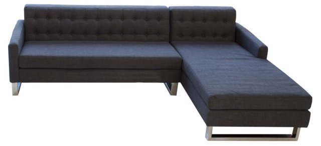 Sloan Right-Arm Sectional, Charcoal