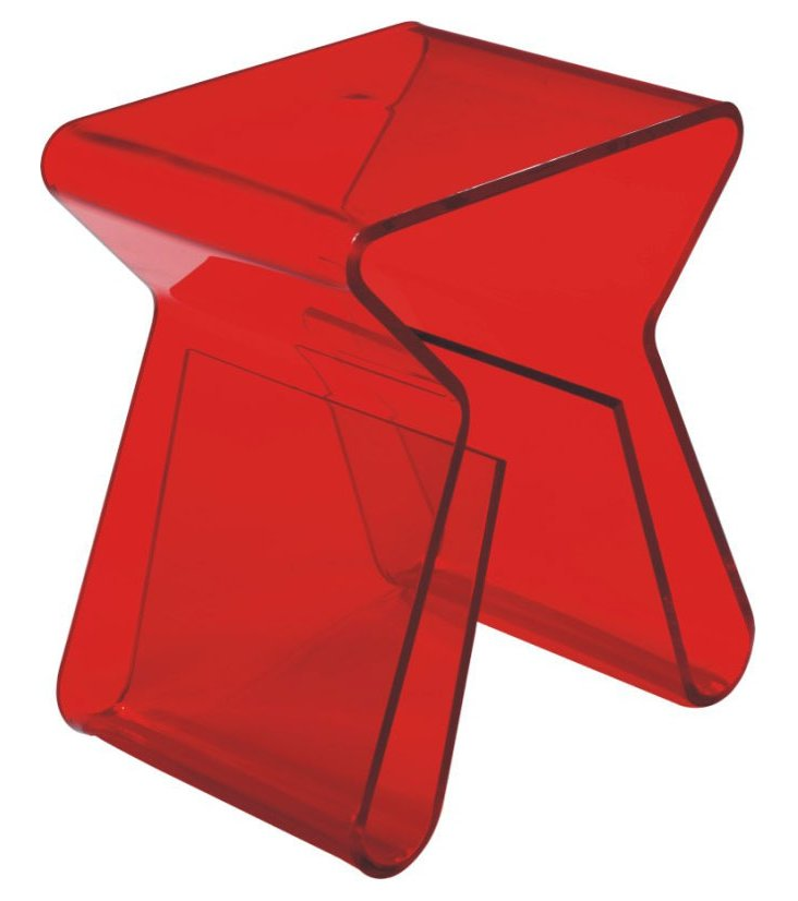 DNU - IK Clip Side Table, Red