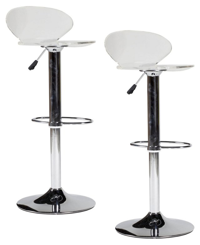 Clear Jane Barstools, Pair
