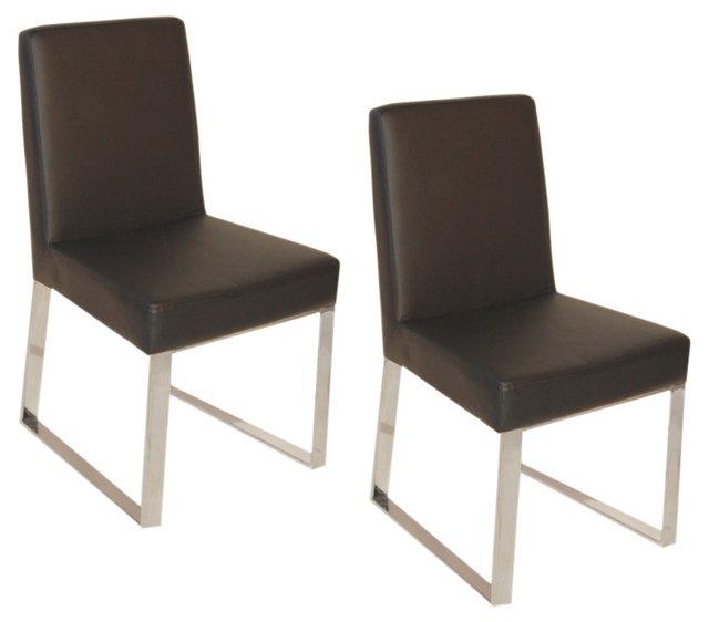 Espresso Sien Chairs, Pair