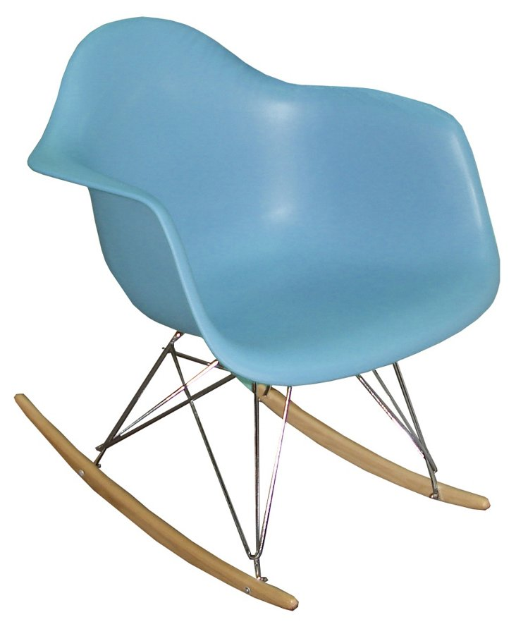 DNU, IK-Stockholm Rocking Chair, Blue