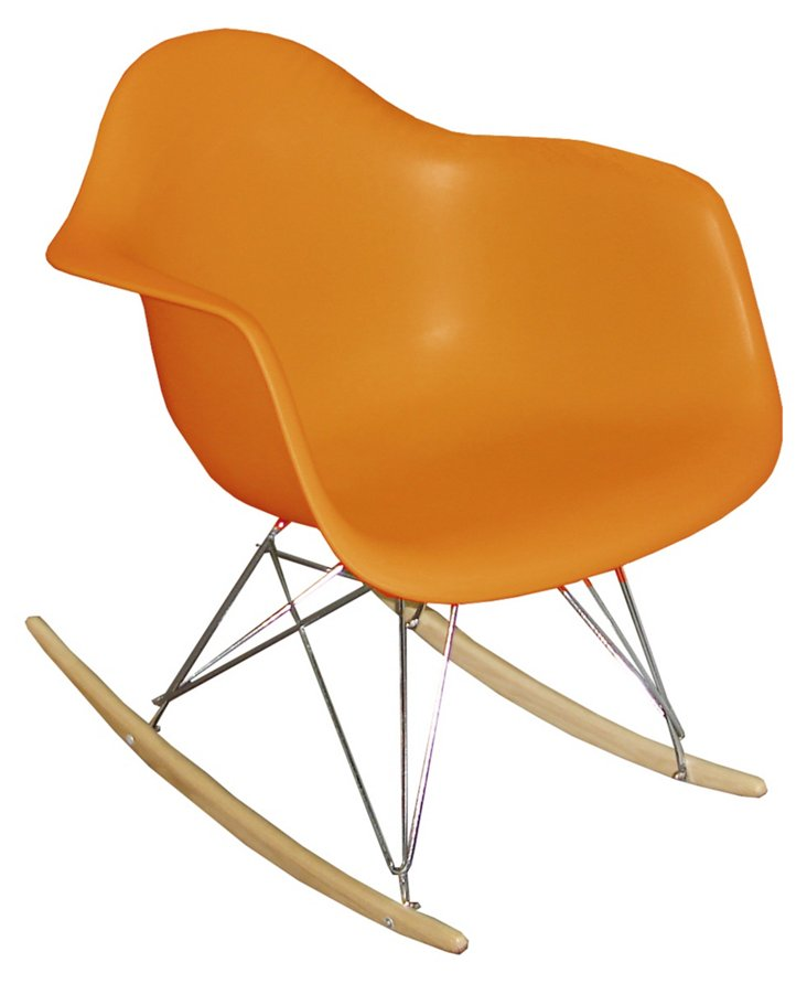 DNU, IK-Stockholm Rocking Chair, Orange