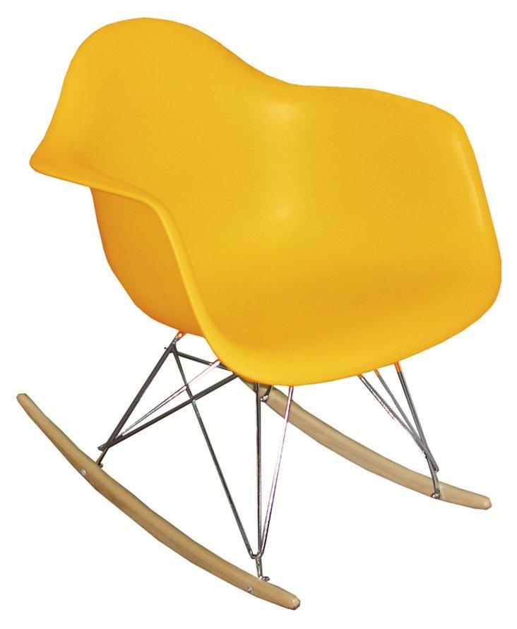 DNU, IK-Stockholm Rocking Chair, Yellow