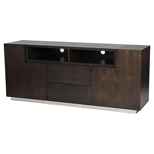 Trix 2-Door Media Console, Espresso