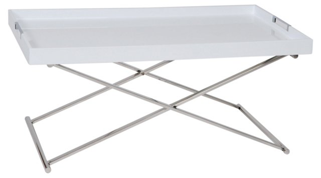 Belle Tray Table, White