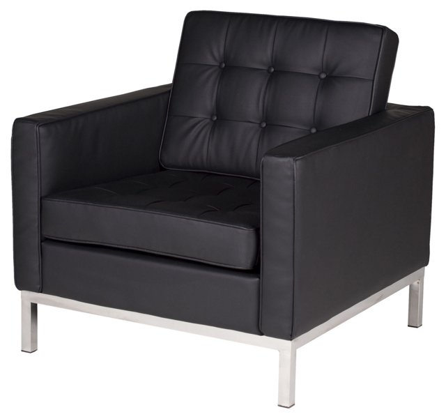 Florence Sofa Chair, Black
