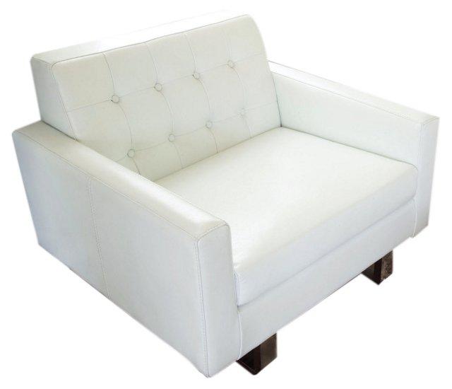 *U Sloan Sofa Chair, White
