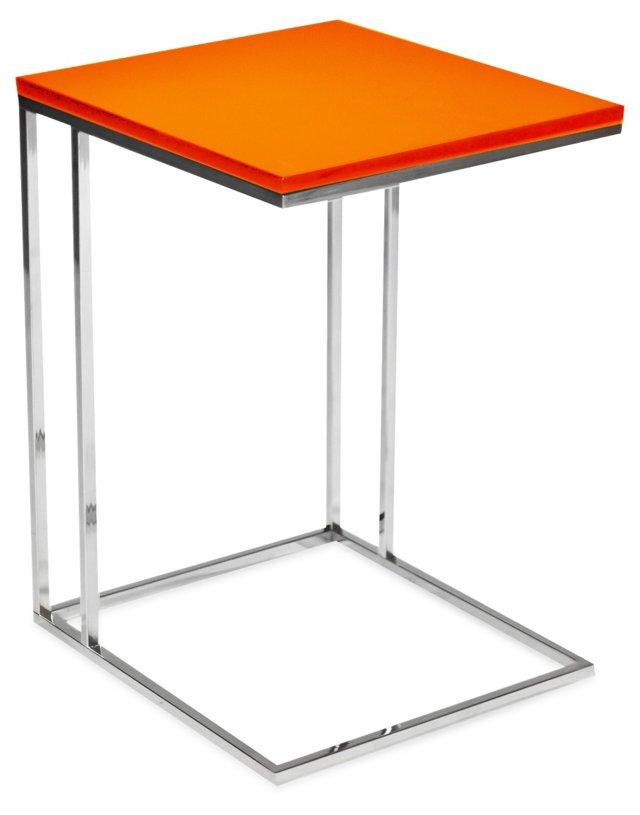 Wilson Side Table, Orange
