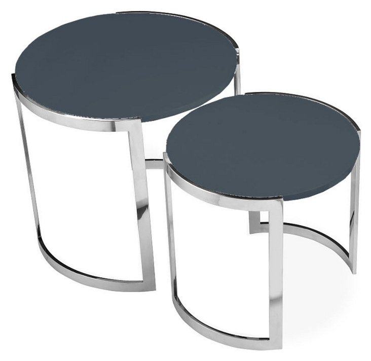 Orion Kid's Nesting Side Tables, Gray