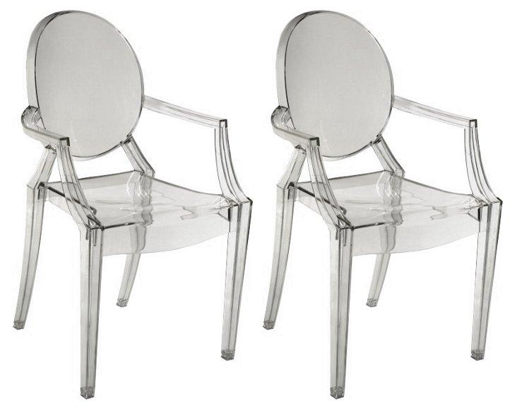 Smoke Bentley Kid's Chairs, Pair