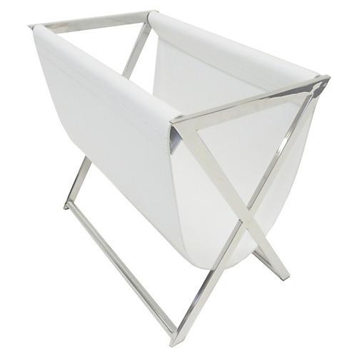 Lexi Magazine Rack, White