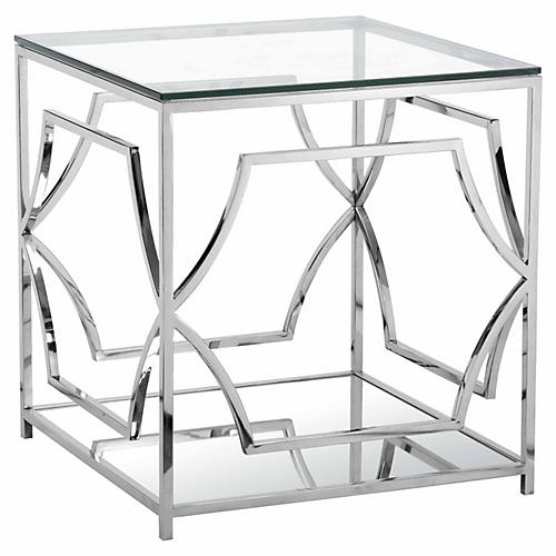 Edward Side Table, Silver