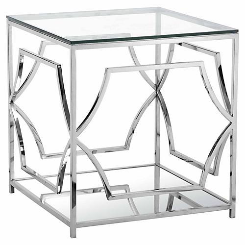 Edward Side Table, Silver