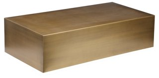 Spencer Coffee Table, Brushed Brass   Coffee Tables   Living Room    Furniture   One Kings Lane