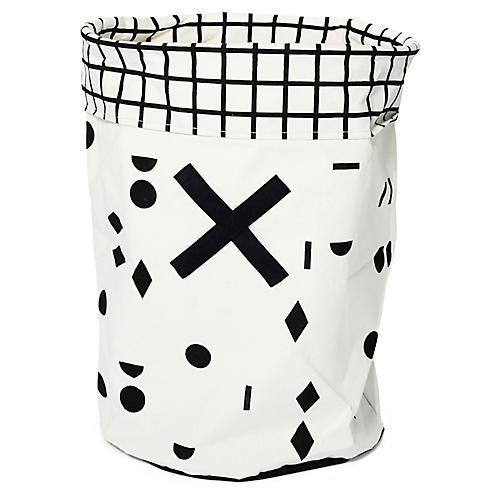 Olé Kids' Toy Hamper, Black/White