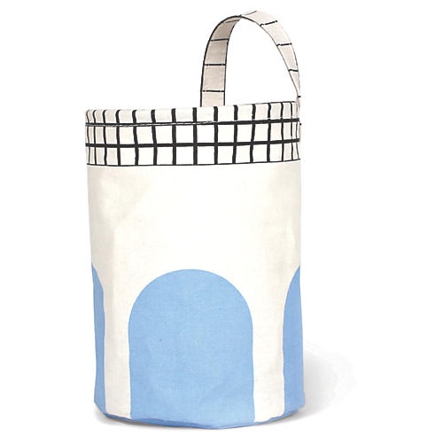 Olé Round Kids' Storage Basket, Blue