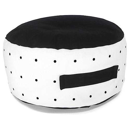 Youpi Kids' Bean Bag, Black/White