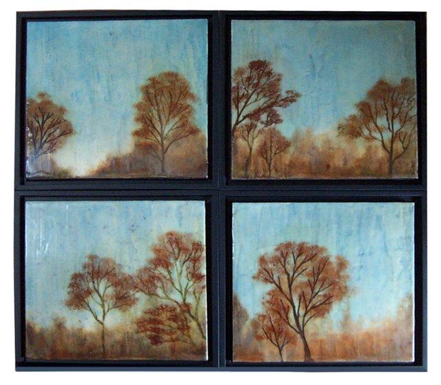 Paula Blackwell, Autumn, Set of 4