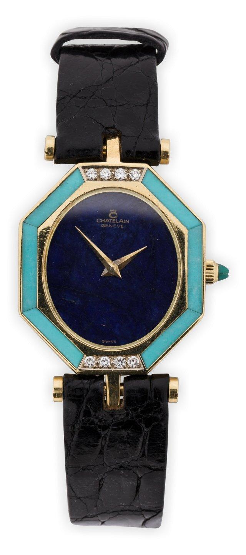 1970s Chatelaine Ladies' Watch w/ Lapis
