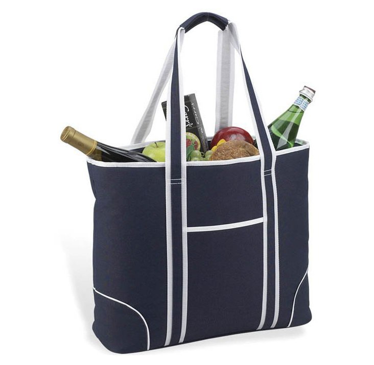 Insulated Tote Bag, Navy