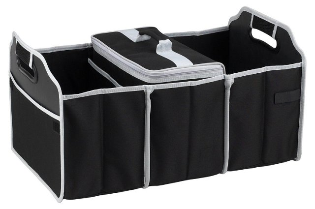 Trunk Organizer and Cooler Set, Black