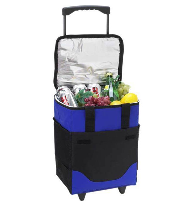 32-Can Collapsible Rolling Cooler, Blue
