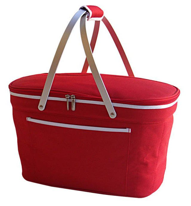 Collapsible Basket Cooler, Red