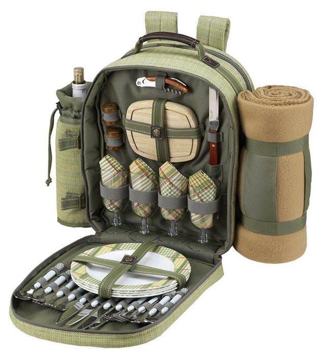 Backpack w/ Blanket for 4, Olive