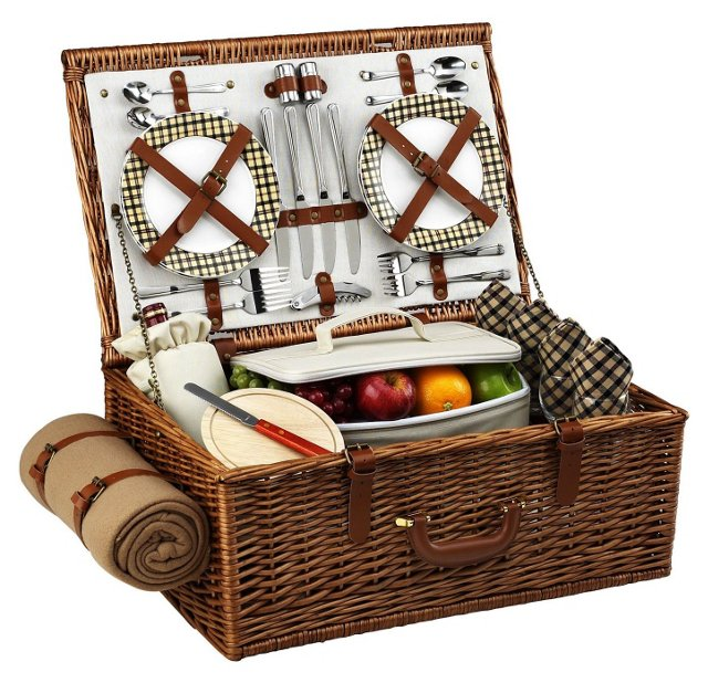 Dorset Basket & Blanket for 4, Brown