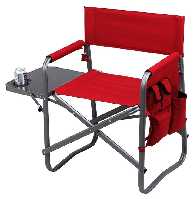 Folding Chair w/ Table, Red