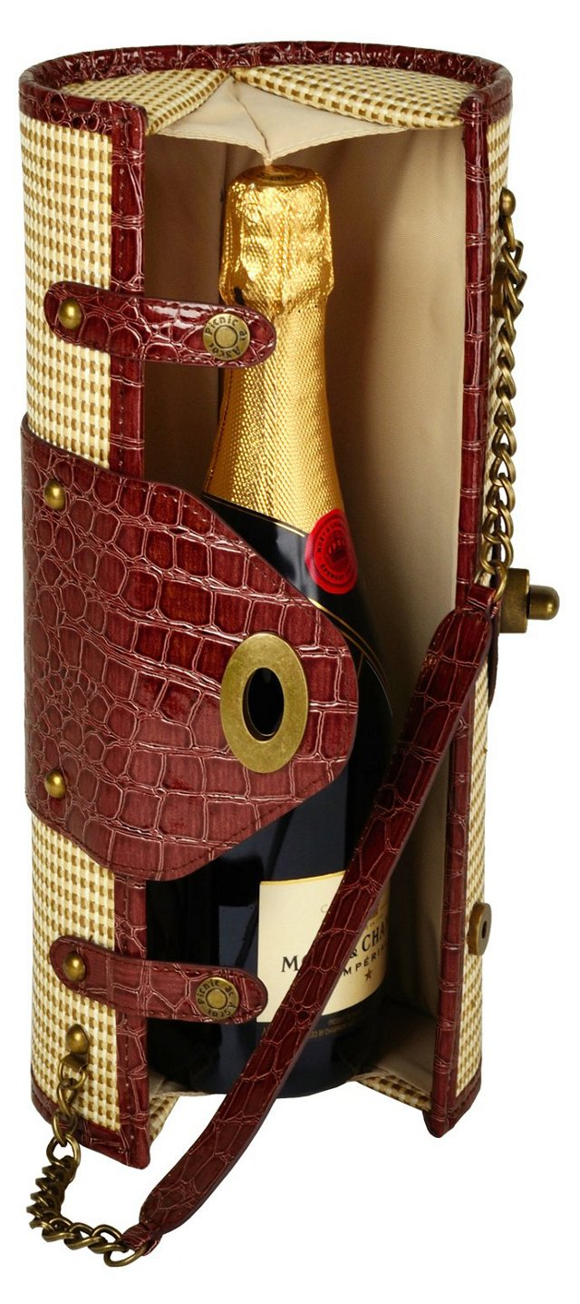 Wine Carrier & Purse, Straw