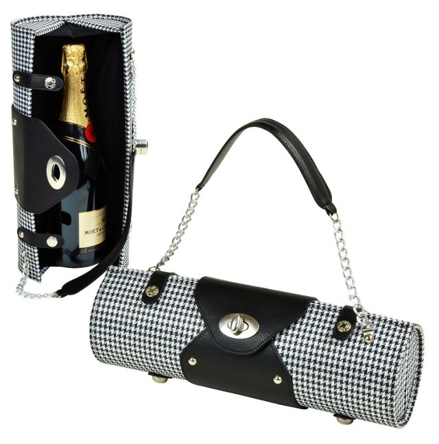 Wine Carrier & Purse, Houndstooth