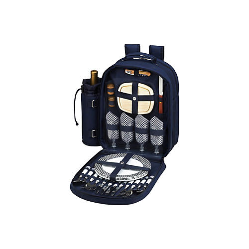 Picnic Backpack Cooler for Four, Navy