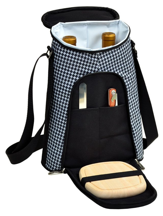 Double Bottle Carrier w/ Cheese Set