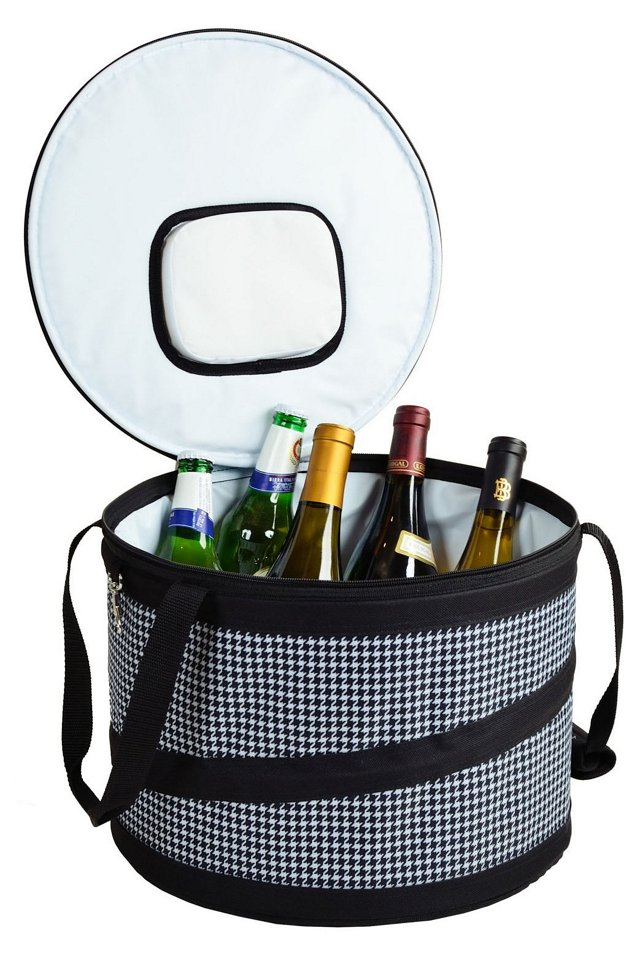 Pop-Up Party Cooler, Houndstooth