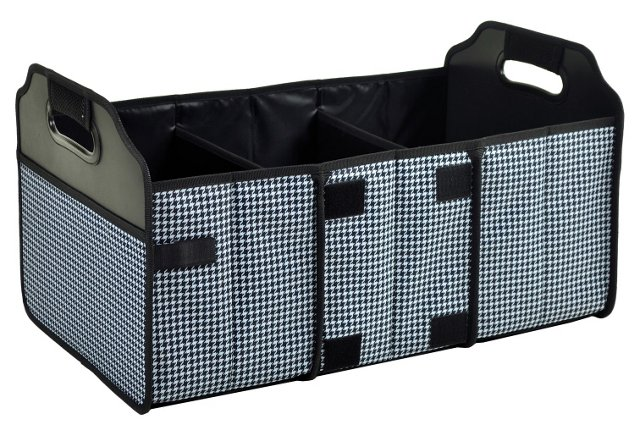 Foldable Trunk Organizer, Houndstooth