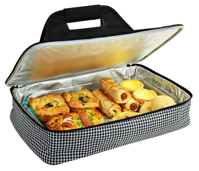 Thermal Food Carrier, Houndstooth
