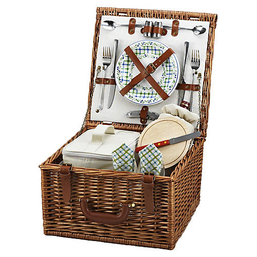 Gazebo Cheshire Basket for 2, Brown