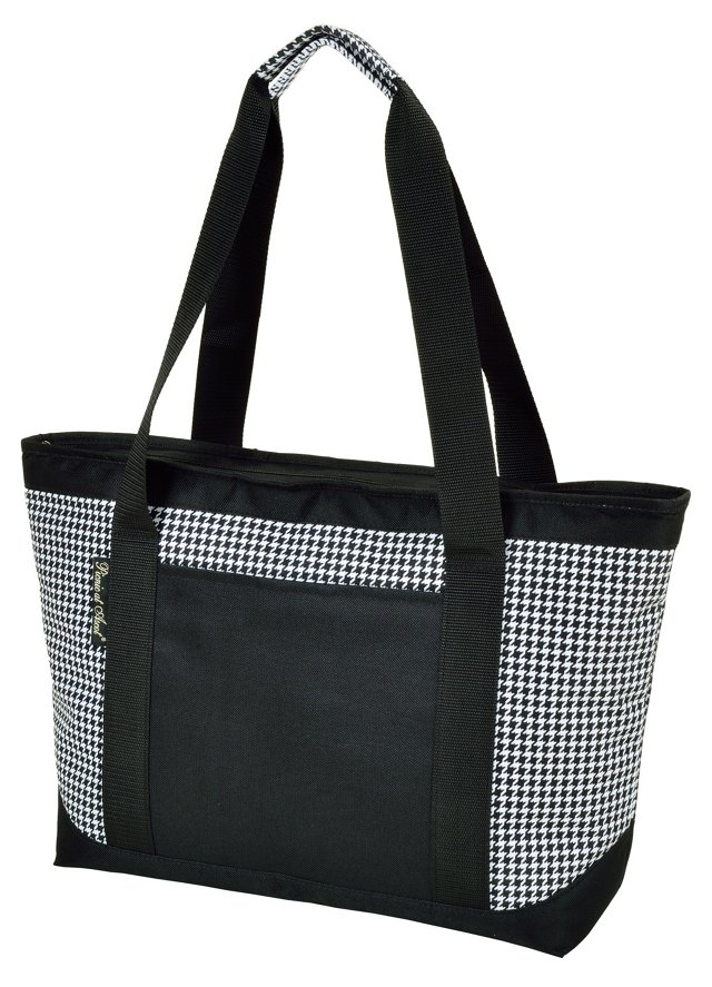 Large Insulated Tote, Houndstooth