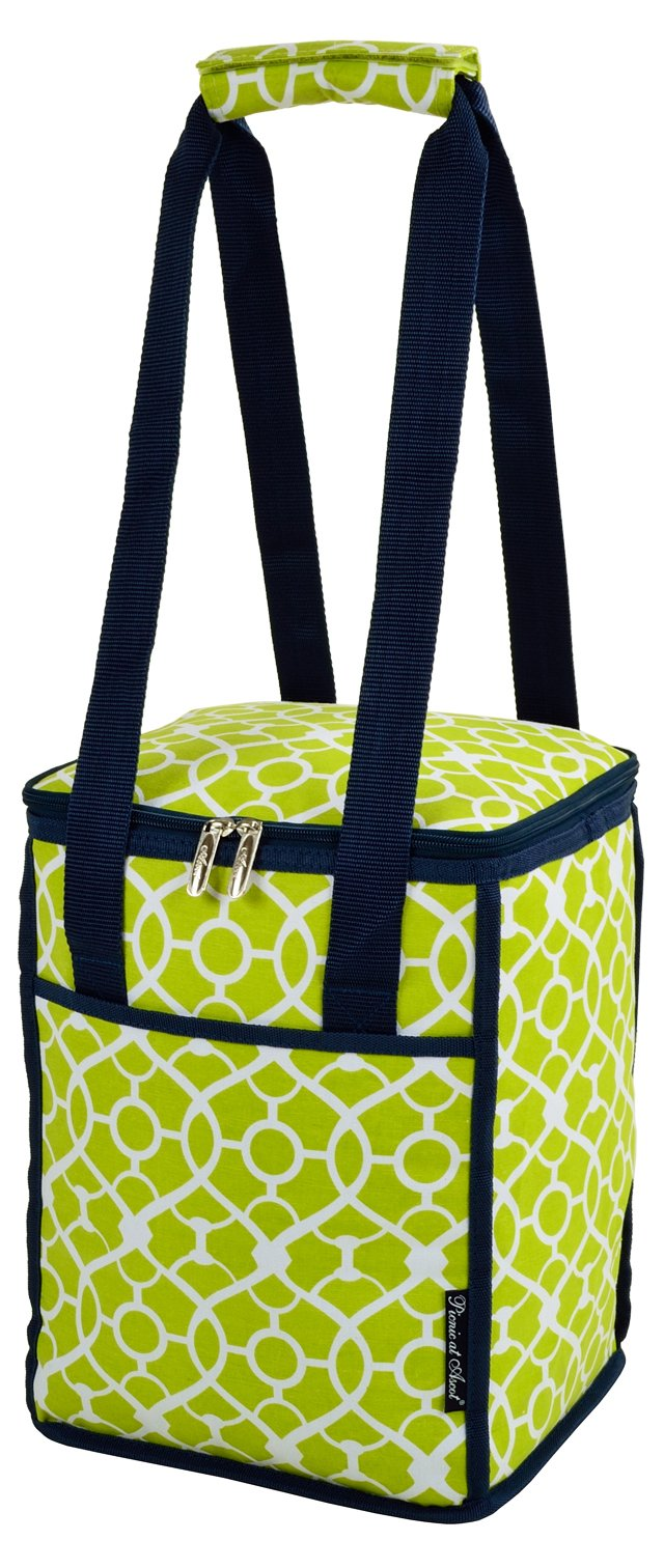 Collapsible Cooler, Green Trellis