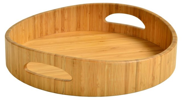 Curve Cocktail Tray, Bamboo