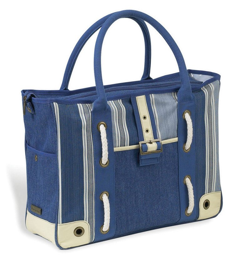 Aegean Large Day Tote, Blue