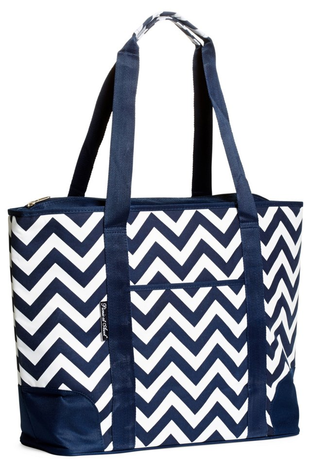 Insulated Tote, Blue