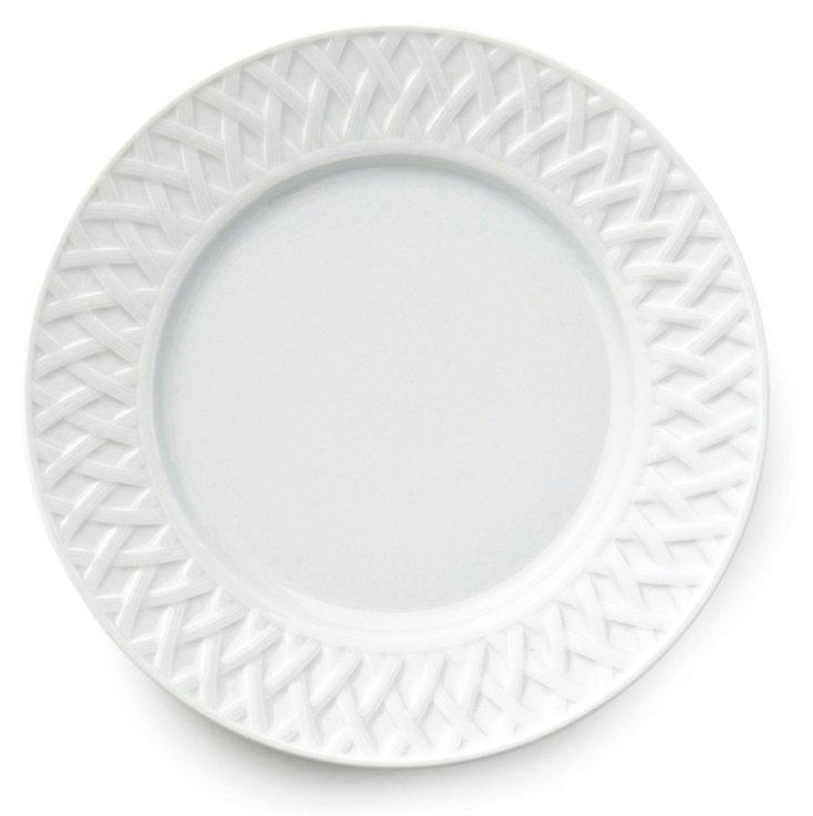 S/6 Louisiane Dessert Plates, White