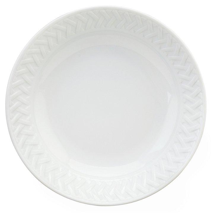 Osmose Deep Round Platter, White
