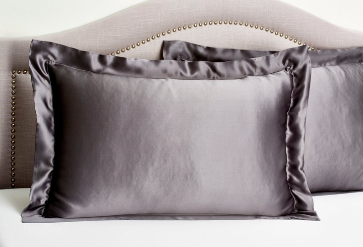 Set of 2 Pillow Shams, Charcoal