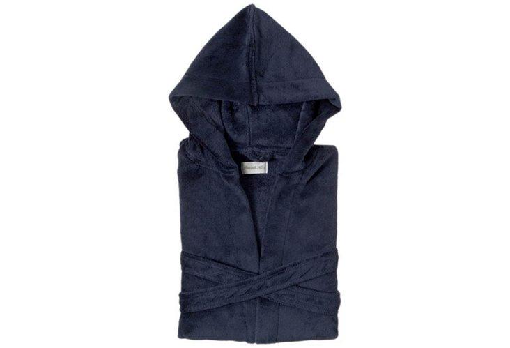 S/M Serenity Hooded Robe, Navy