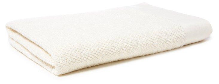Laurent Stone Washed Bath Sheet, Ivory
