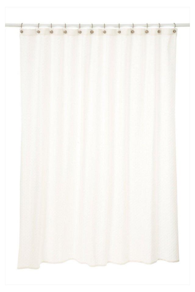 Diamond Shower Curtain, White